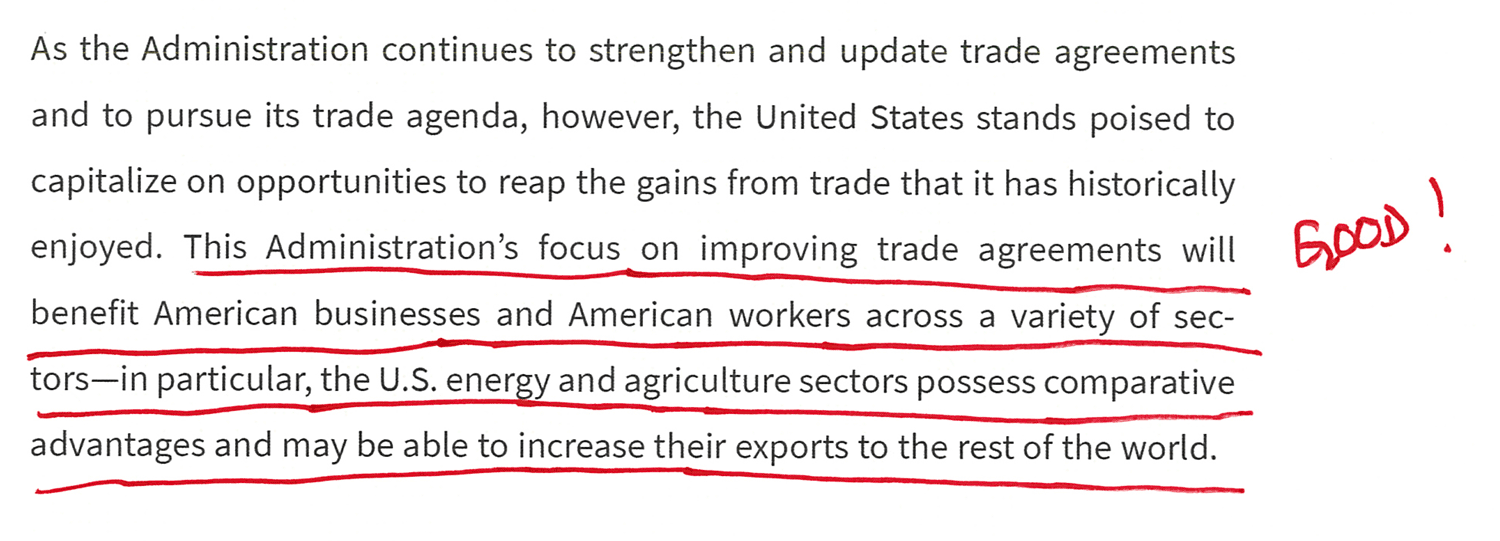 Focus on Improving Trade Agreements