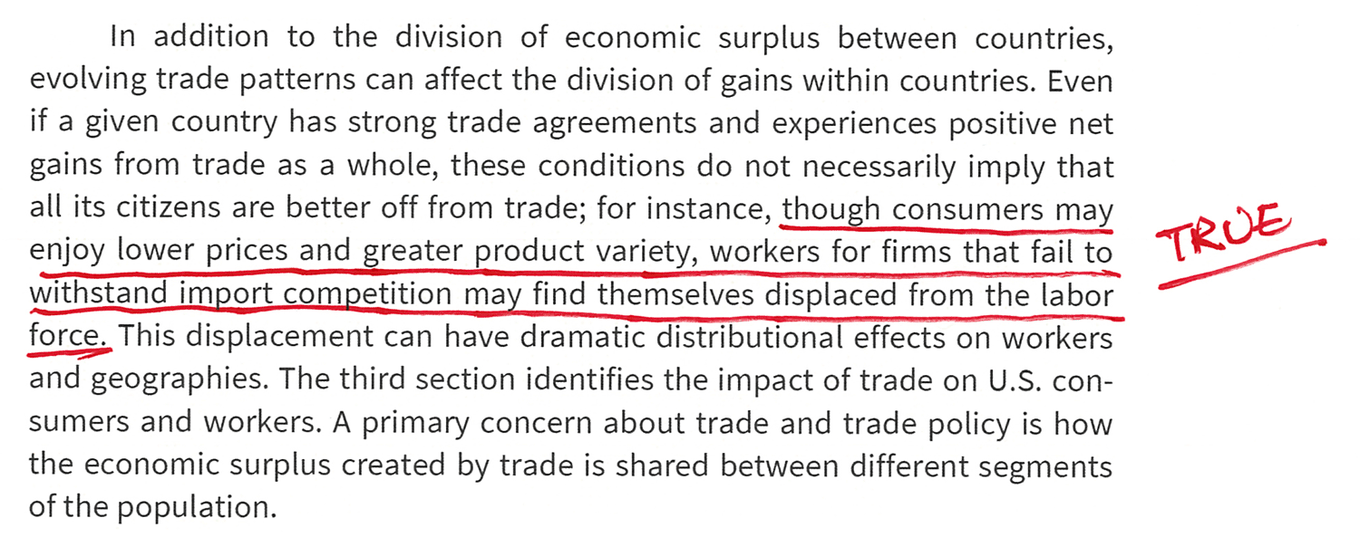 Trade Patterns Can Affect the Division of Gains