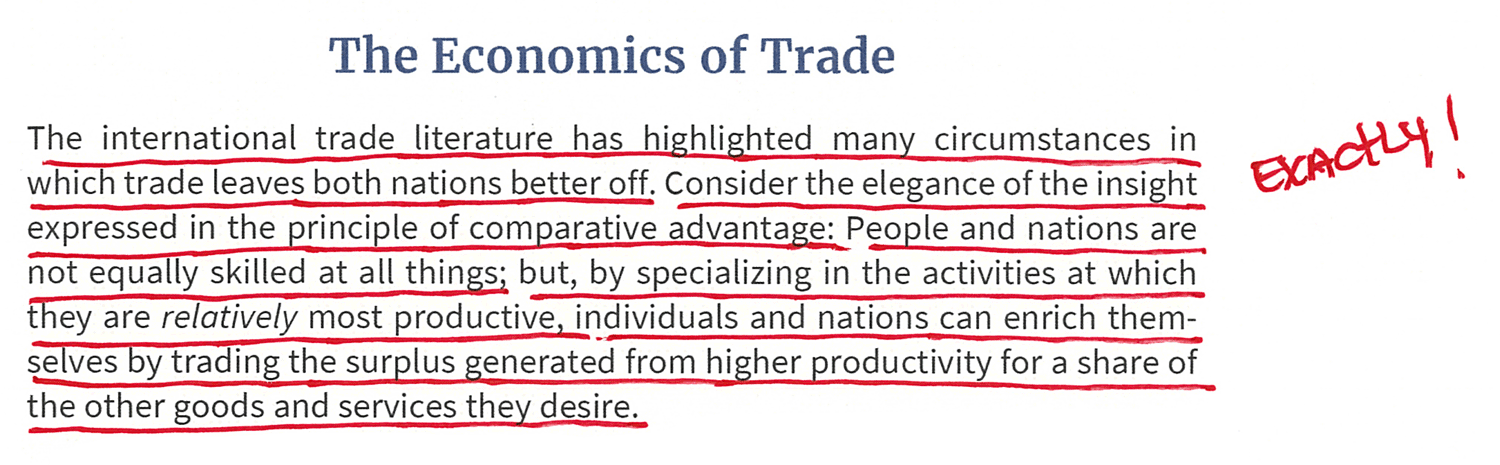 Trade Leaves Both Nations Better Off