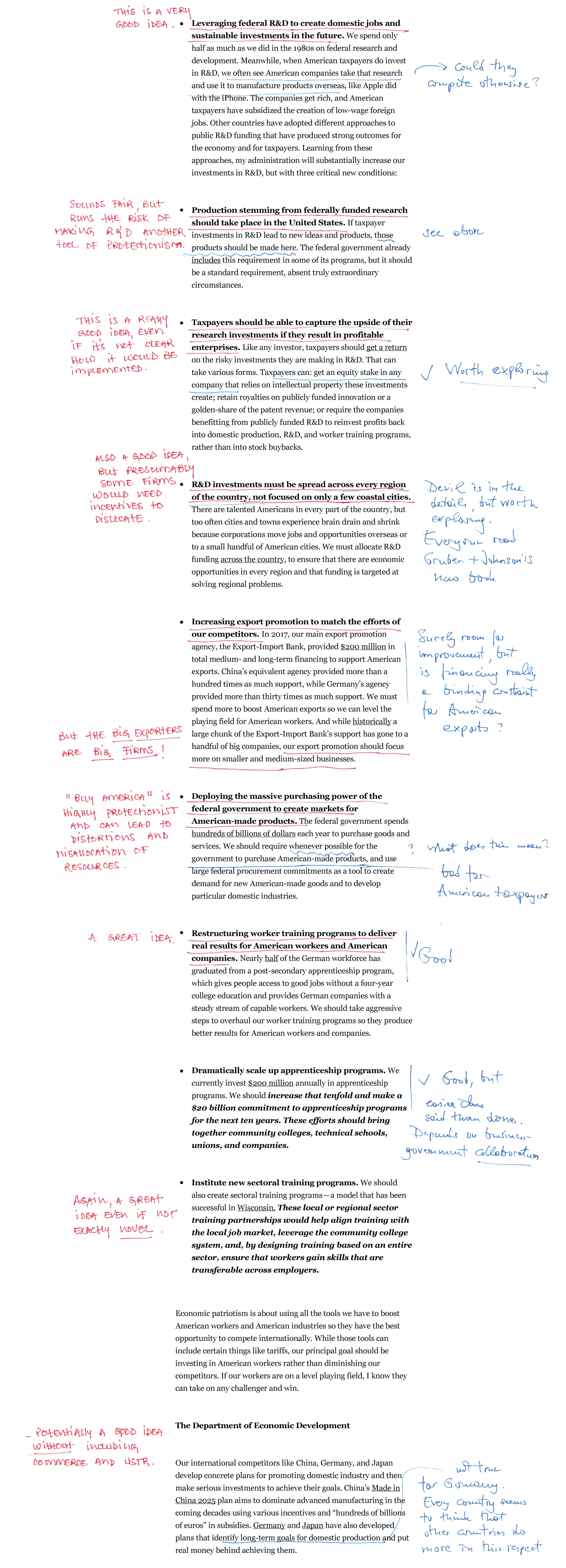 Elizabeth Warren's A Plan For Economic Patriotism--Annotated and Explained
