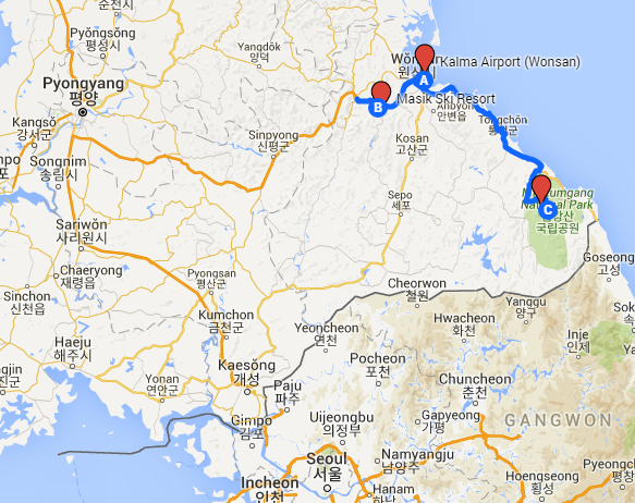 Wonsan Airport bigger map