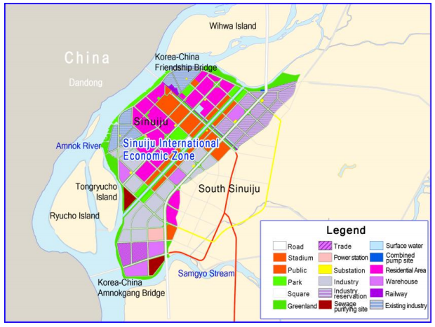 Sinuiju International Investment Guide map