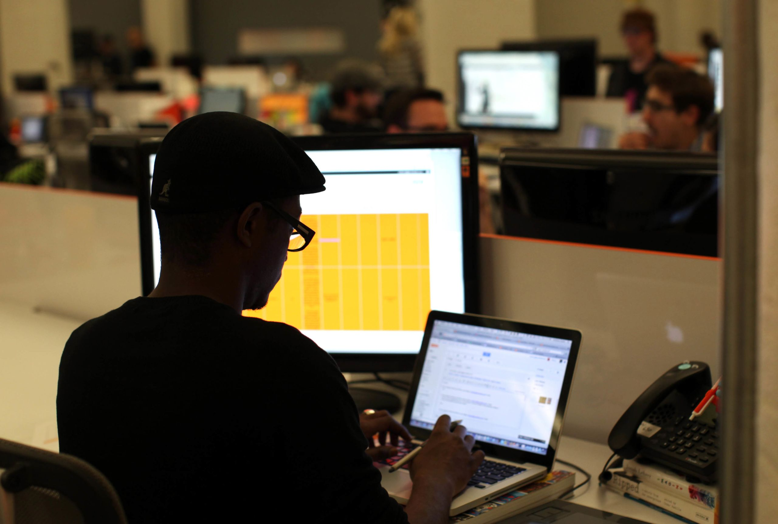 Designer Anthony Grant works on his computer at Eventbrite headquarters in the South of Market area in  San Francisco, California May 25, 2012. REUTERS/Robert Galbraith