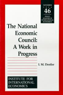 The National Economic Council: A Work in Progress