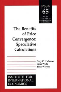 The Benefits of Price Convergence: Speculative Calculations