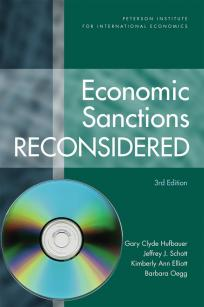 Economic Sanctions Reconsidered, 3rd edition (hardcover plus CD-ROM)