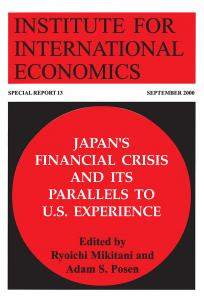 Japan's Financial Crisis and Its Parallels to US Experience
