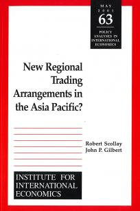 New Regional Trading Arrangements in the Asia Pacific?