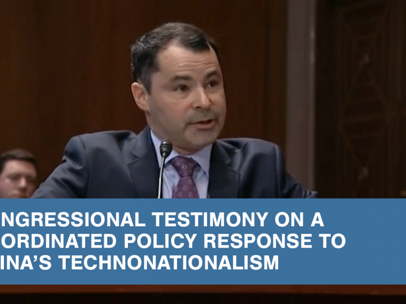 Lee G. Branstetter speaks to the US-China Economic and Security Review Commission on how to address China's alleged misappropriation of foreign technology without stirring up a trade war.
