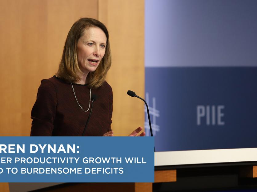 Karen Dynan: Lower  Productivity Growth Will Lead to Burdensome Deficits