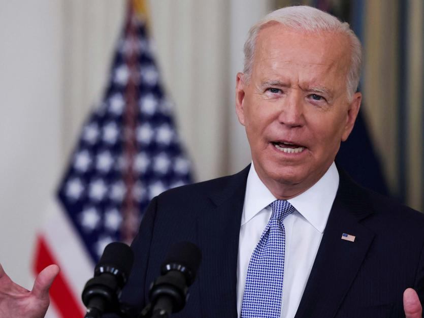 U.S. President Joe Biden responds to a questions at the White House in Washington, U.S., September 24, 2021.