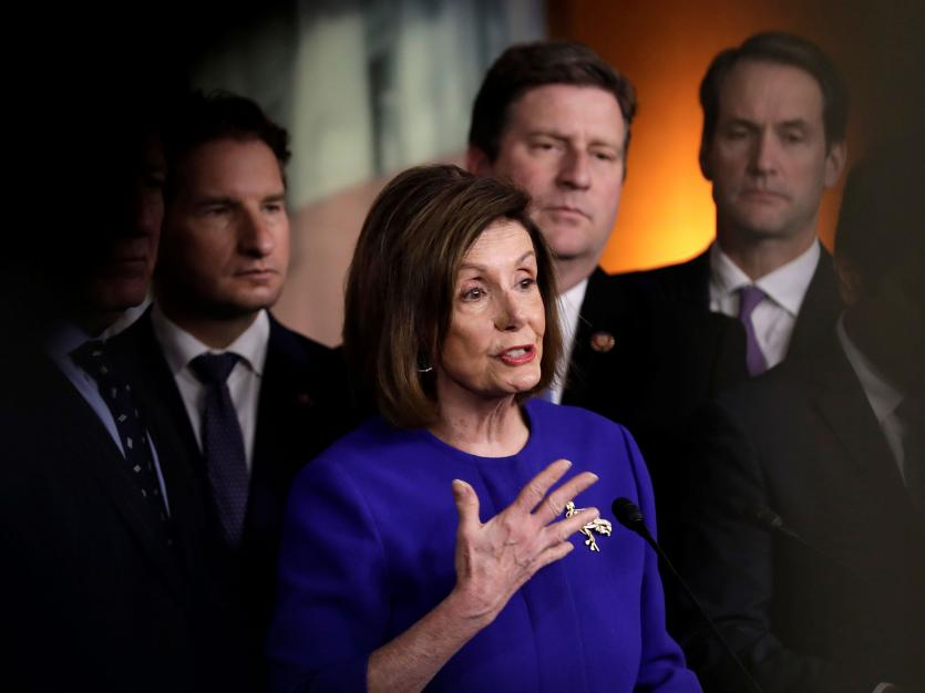 U.S. House Speaker Nancy Pelosi (D-CA) speaks during a news conference on the USMCA trade agreement on Capitol Hill in Washington, U.S., December 10, 2019. REUTERS/Yuri Gripas