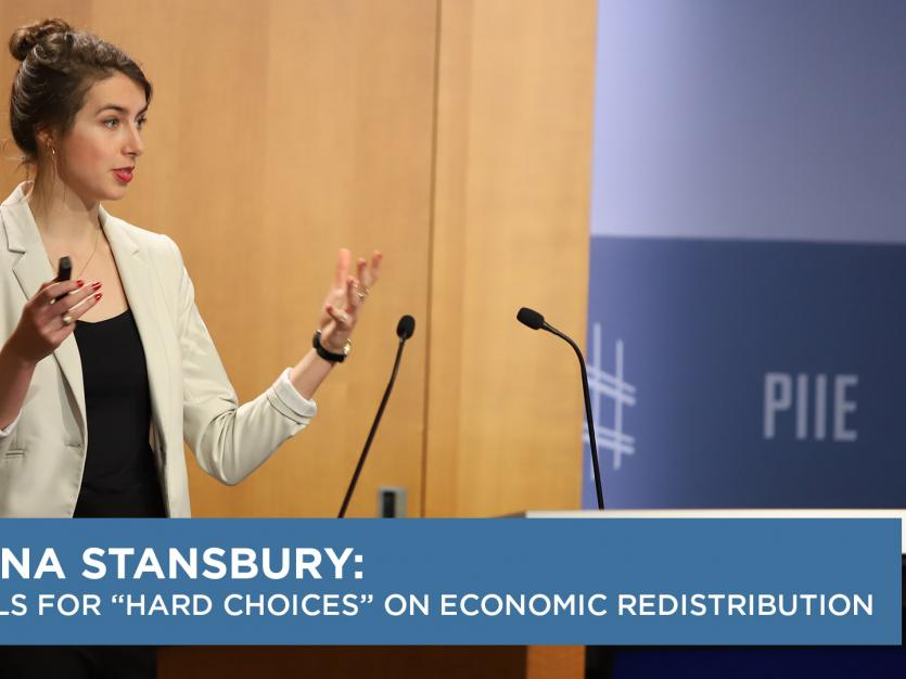 "Anna Stansbury Calls for ""Hard  Choices"" on Economic Redistribution"