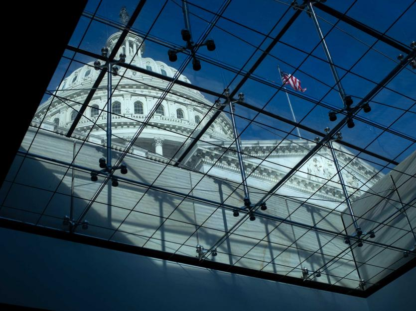 The U.S Capitol Building seen through a skylight, in Washington, D.C., on Tuesday, March 2, 2021.