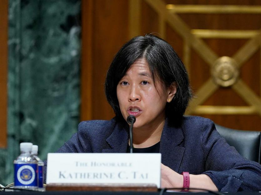 United States Trade Representative, Katherine C. Tai, answers questions about President Biden's 2021 trade policy agenda, on Capitol Hill in Washington, D.C. on Wednesday, May 12, 2021.
