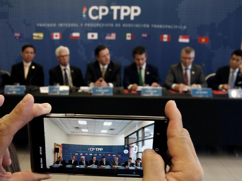 Representatives of the countries members of Trans-Pacific Partnership (TPP) trade deal