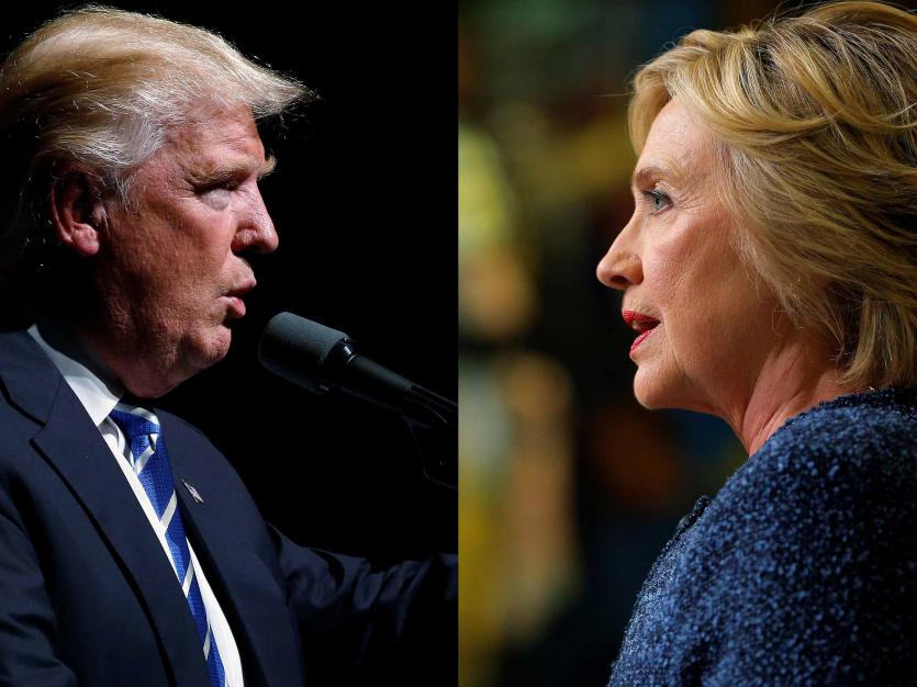 U.S. Democratic presidential candidate Hillary Clinton and Republican presidential nominee Donald Trump