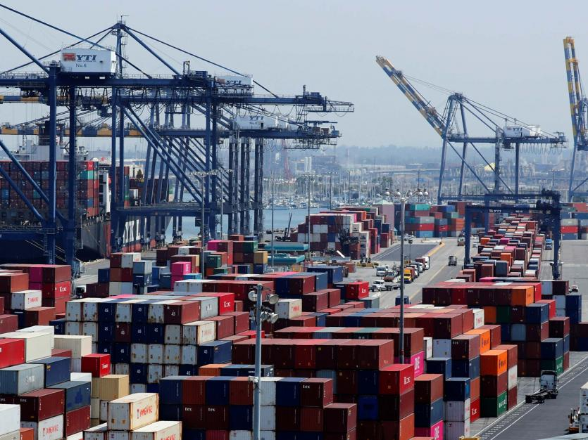 Ship and containers are shown at the port of Los Angeles in Los Angeles, California, U.S. July 16, 2018.