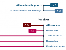 The pandemic led consumers to spend more on goods, less on services