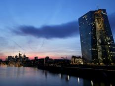 Frankfurt's skyline with its banking district (center) and the headquarters of the European Central Bank (ECB, right). Frankfurt, Germany. REUTERS/Kai Pfaffenbach