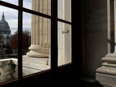 The Capitol Building is seen from Russell Senate Office Building in Washington, U.S., December 6, 2017.