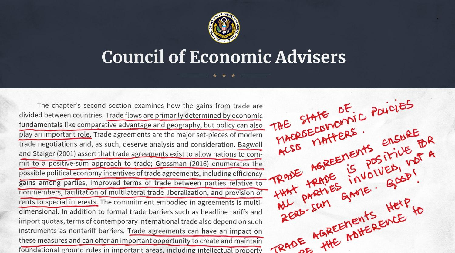 Annual Economic Report of the President, Annotated and Explained