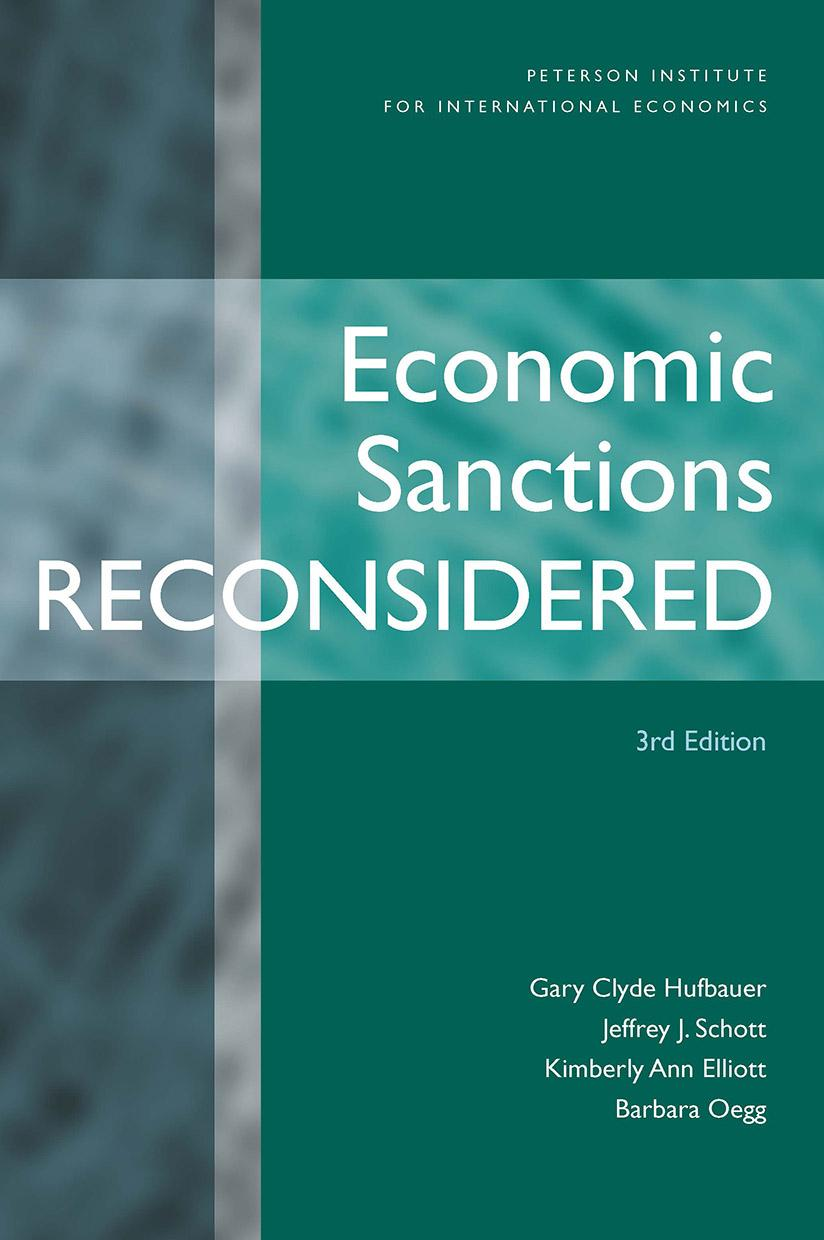 Economic Sanctions Reconsidered, 3rd Edition (paper)