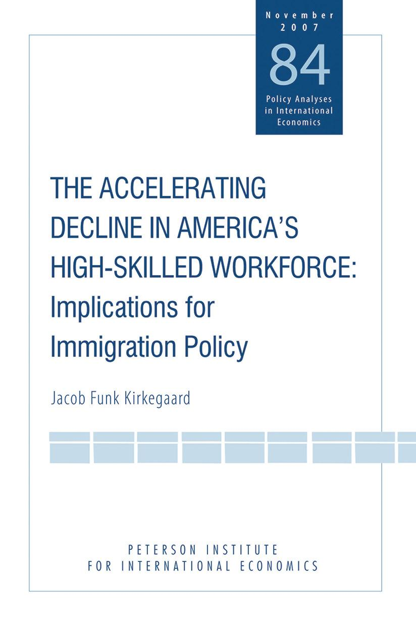 The Accelerating Decline in America's High-Skilled Workforce: Implications for Immigration Policy